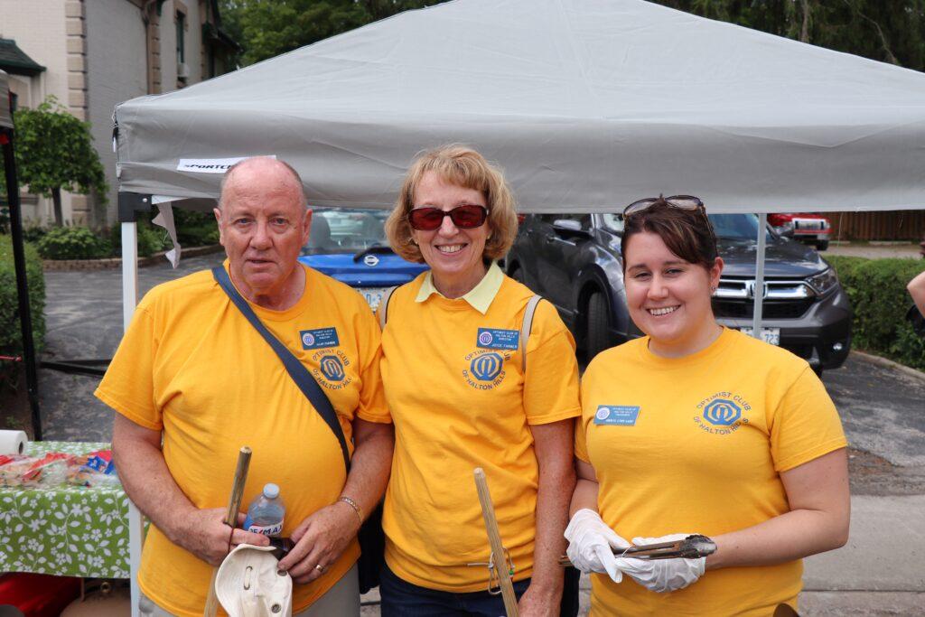 Alan Farmer, Joyce Farmer, Sheryl Lynn Lane from Halton Hills Optimist Club-2